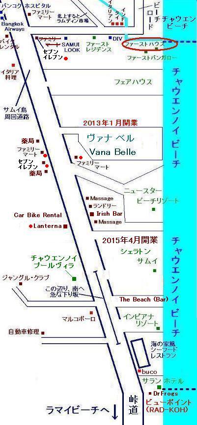 サムイ島の地図・サムイ島チャウエンビーチの地図5