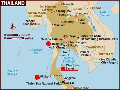 タイの地図