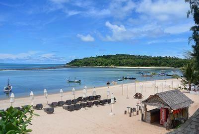 サムイ島のマトラン島周辺のビーチ