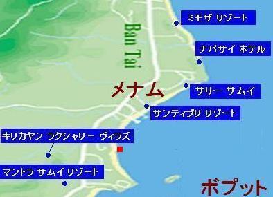 サムイ島の地図