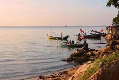 サムイ島の夕日2