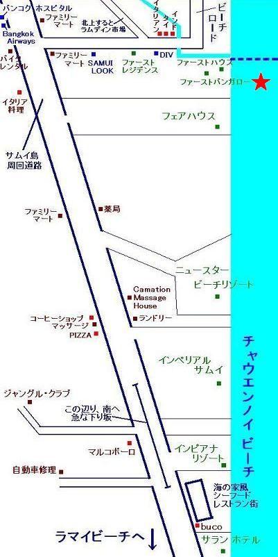サムイ島の写真map