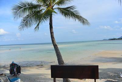 サムイ島チャウエンビーチ北郊外4